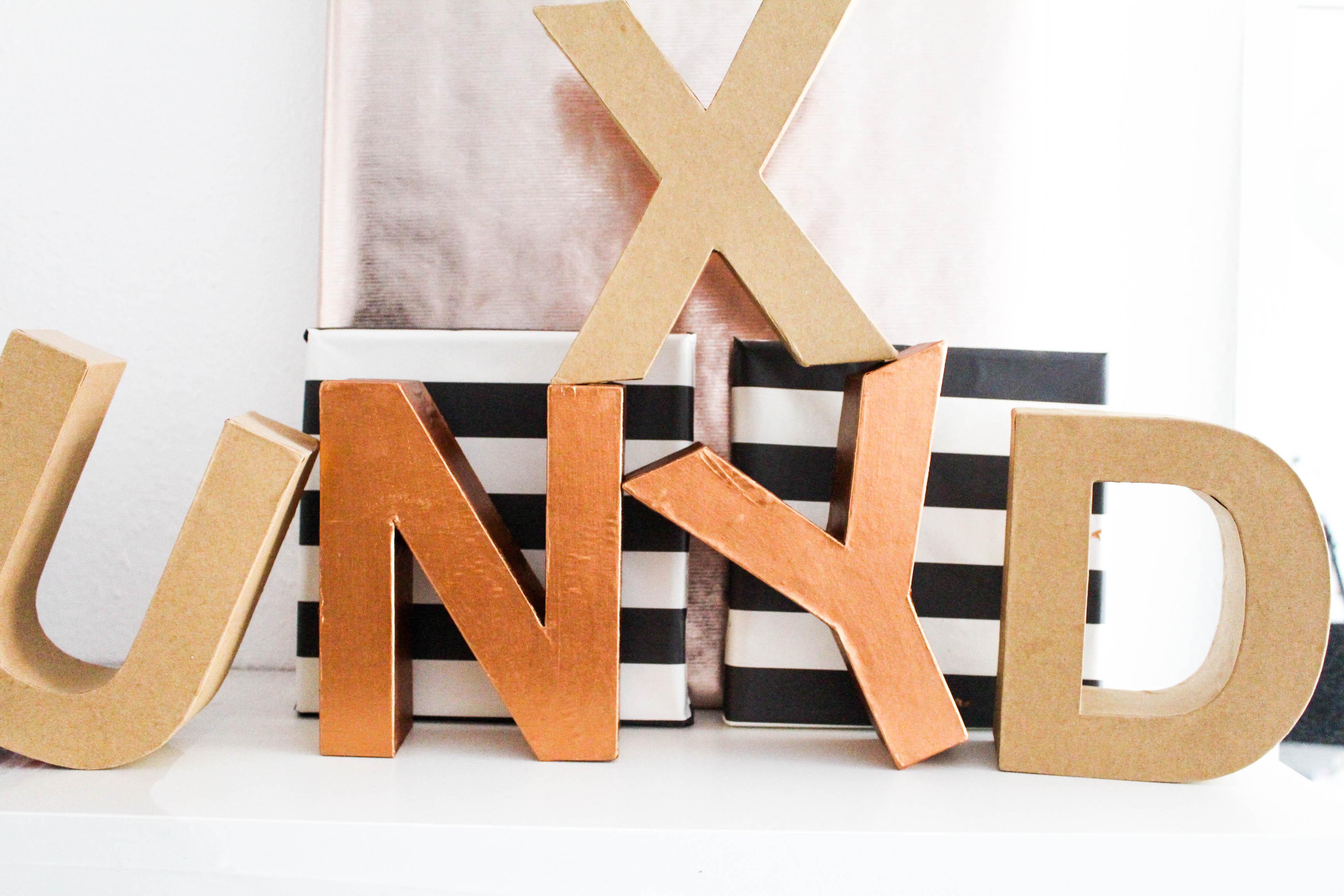 diy kupfer buchstaben sch nwild. Black Bedroom Furniture Sets. Home Design Ideas