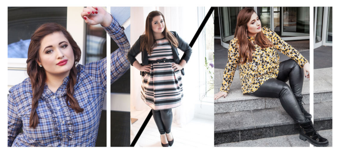Plus Size Fashion Girl Collage