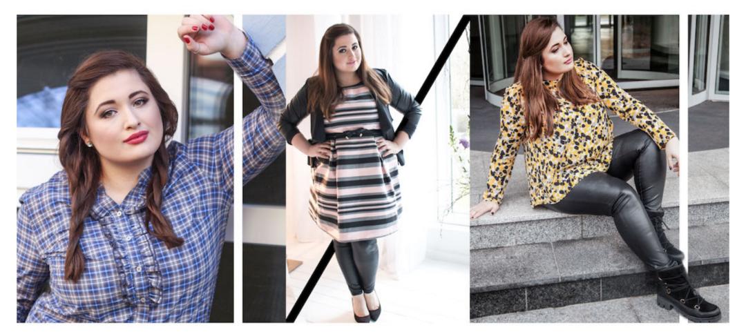 Plus Size Fashion Girl Collage