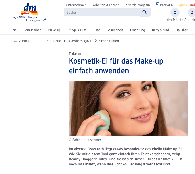 SchönWild Dm Alverde Magazin - Make-up Ei - Beauty blender anwenden Tutorial Step by Step