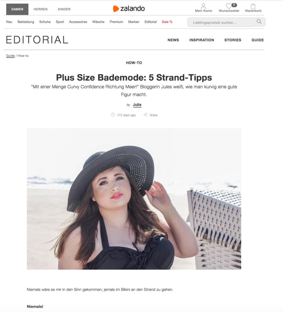 Zalando Plus Size Bademode SchönWild Curvy Highwaist Bikini Plus Size Model