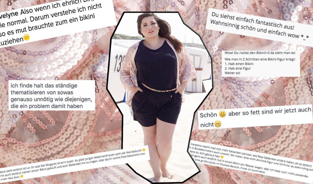 Social Media Kommentare zu Plus Size Frau