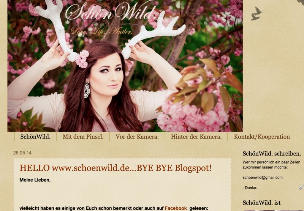 SchönWild alte Seite, Blogspot