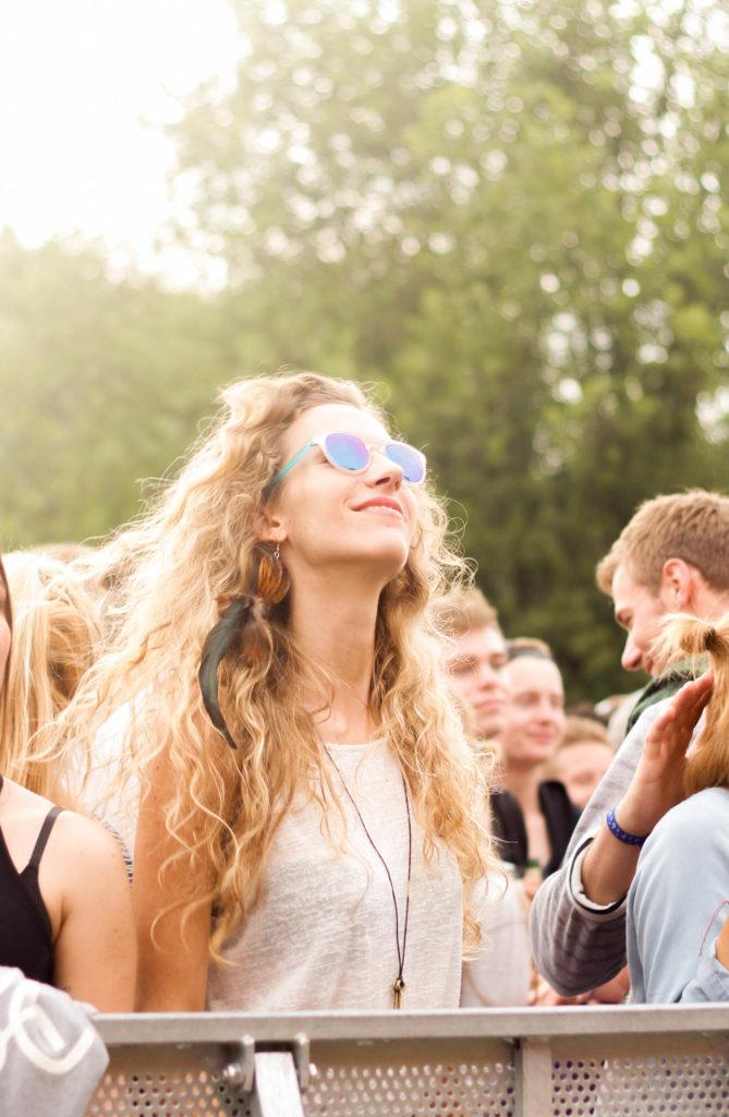 Stil vor Talent Festival Hamburg, tanzedes Mädchen hat Spaß
