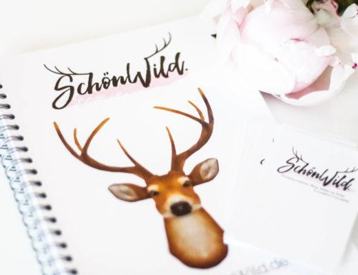 SchönWild, Logo, Notizbuch, Visitenkarte
