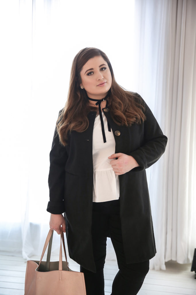 Plus Size Look Just Fab_Outfit black and white