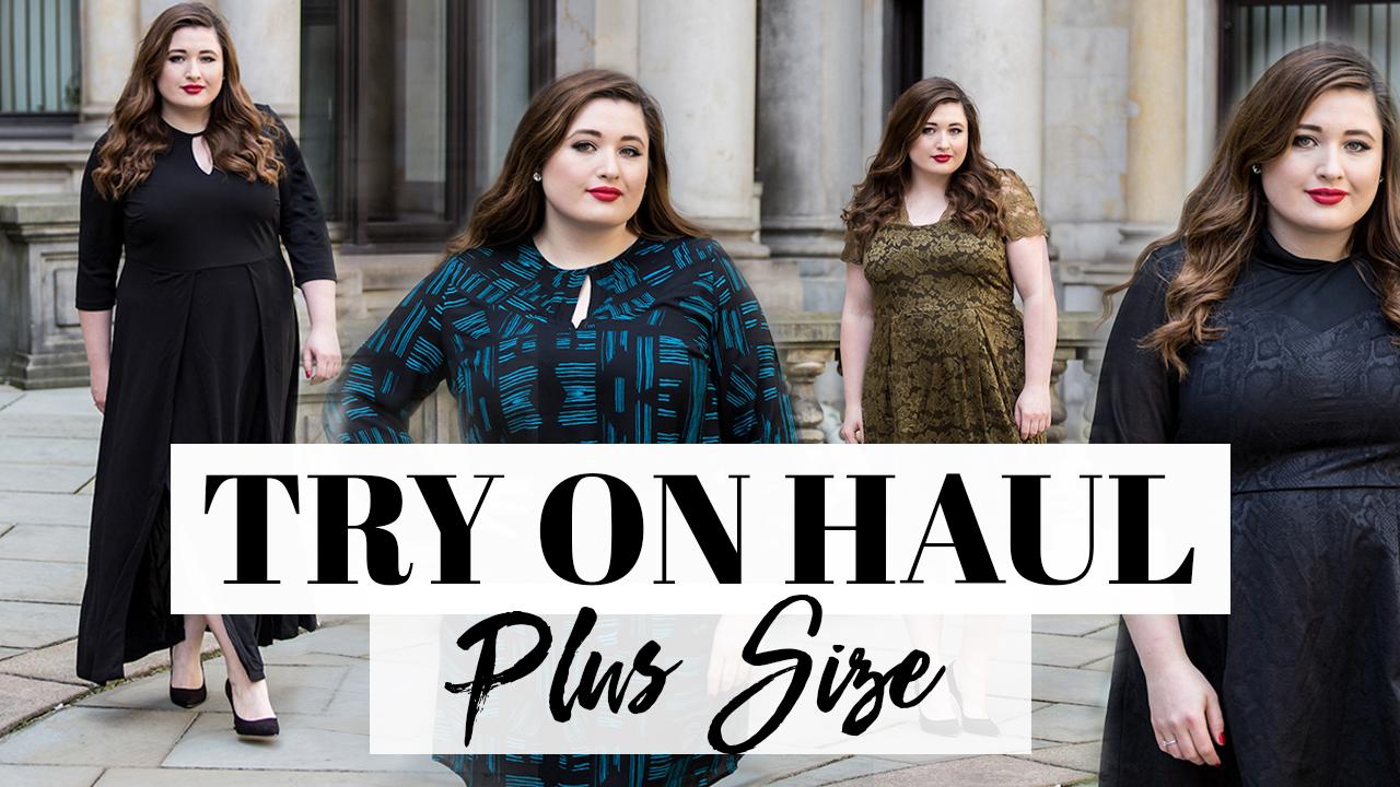 youtube: plus size fashion try on haul – abendkleider