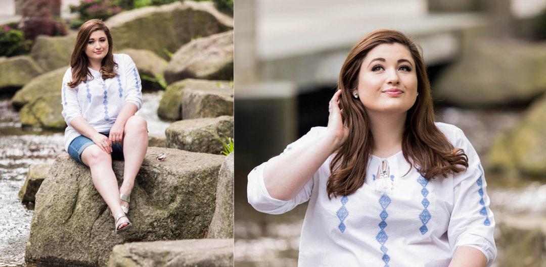 Plus Size Sommer Outfit Inspiration Tchibo Jeansshorts Tunika weiß Plus Size Model Deutschland Hamburg SchönWild Blog