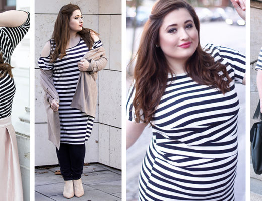 PLUS-size-fashion-blogger-hamburg-germany-streifenshirt-kombinieren-drei-outfit-inspirationen-parisian-chick-schwarz-weiß-gestreift-shirt-kombination